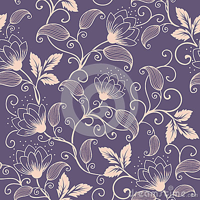 Free Vector Flower Seamless Pattern Element. Elegant Texture For Backgrounds. Classical Luxury Old Fashioned Floral Ornament Stock Photo - 91131240