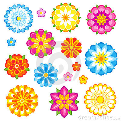 Free Vector Flowers Set Royalty Free Stock Image - 18720826