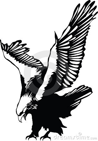 Free Vector Flying Eagle Royalty Free Stock Images - 2201309