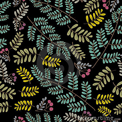 Vector foliage pattern