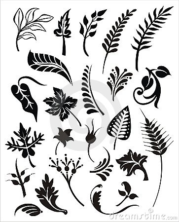 Vector foliage set