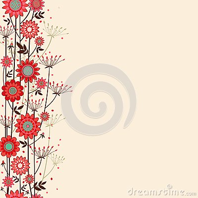 Vector fond decorative flowers