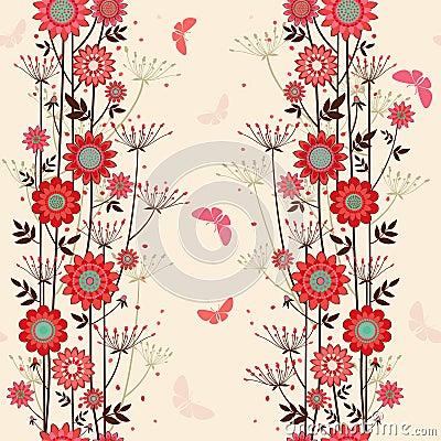 Vector fond decorative flowers