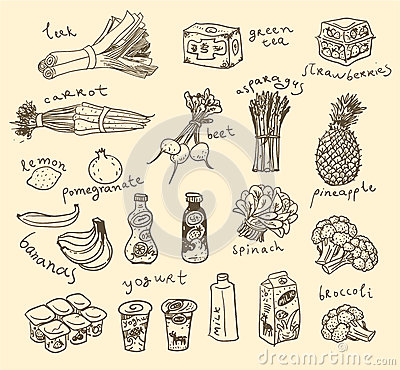 Free Vector Food Ingredients Royalty Free Stock Images - 27093289