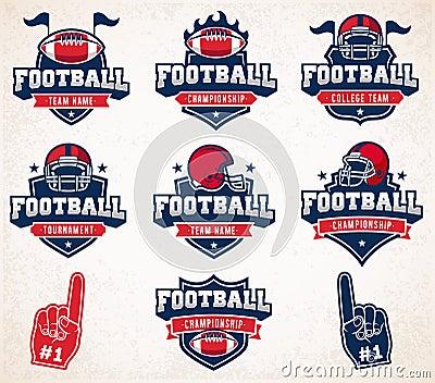Vector Football logos and insignias Vector Illustration