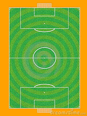 Vector football pitch
