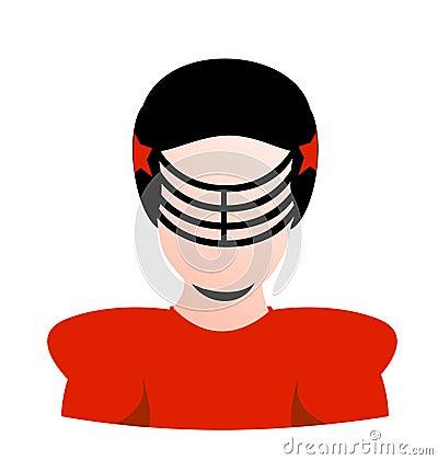 Vector football player blank avatar