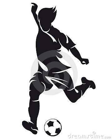Free Vector Football (soccer) Player Silhouette Royalty Free Stock Images - 23350199