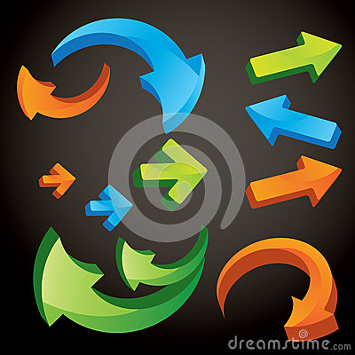 Vector form of arrows