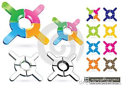 Vector Four Parts Circle