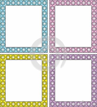 Vector frame in 4 color shades