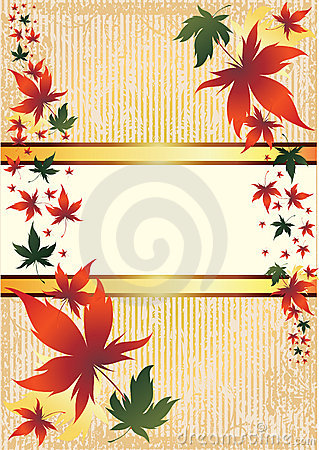 Vector frame with Autumn Leafs. Thanksgiving