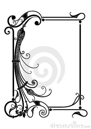 Vector frame with floral decor