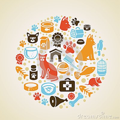 Free Vector Frame With Cat And Dog Icons Royalty Free Stock Image - 26929716