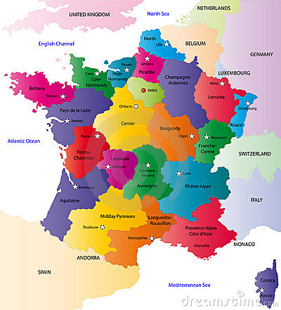 Vector France map