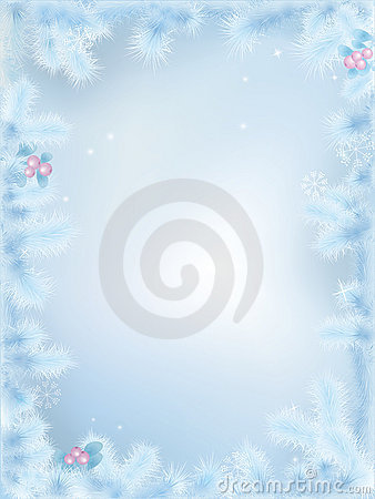 Vector Frozen Christmas border