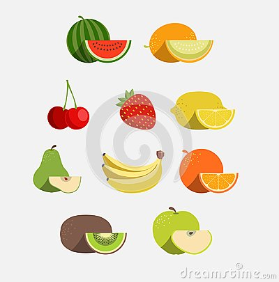 Free Vector Fruit Icon Set Stock Photography - 109501292