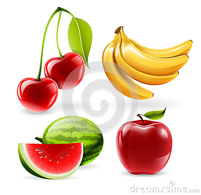 Free Vector Fruit Icons Stock Photography - 32071932