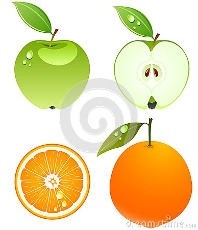 Free Vector Fruits. Royalty Free Stock Photography - 9989377