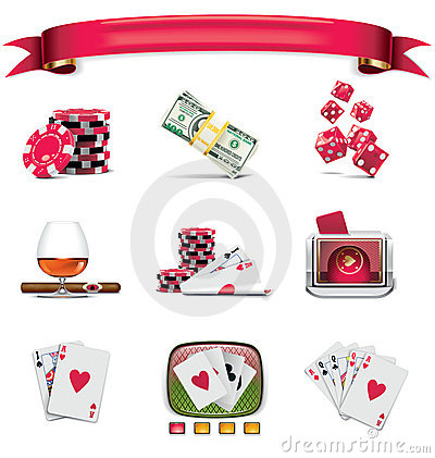 Free Vector Gambling Icon Set. Part 1 (on White) Stock Photos - 15086283