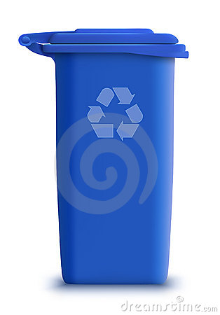 Vector garbage can recycle