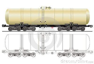 Vector gasoline tanker car
