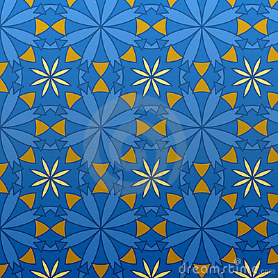 Vector Geometric Blue Seamless Pattern