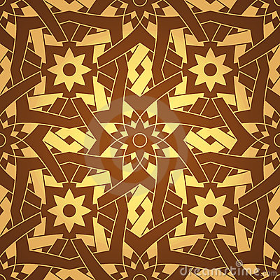 Vector Geometric Cross Flower Seamless Pattern