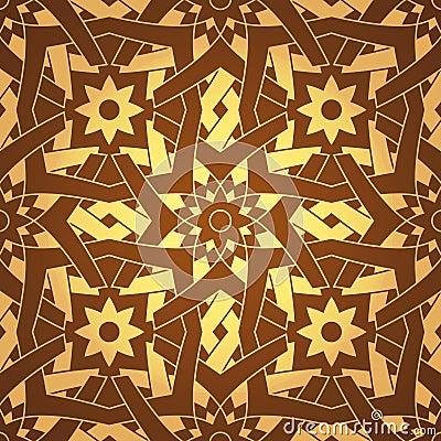 Vector Geometric Cross Flower Seamless Pattern