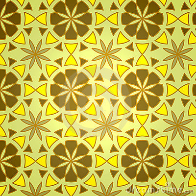Vector Geometric Flower Seamless Pattern
