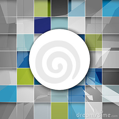 Vector geometric shape futuristic background