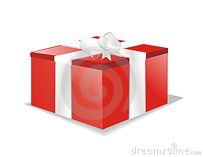 Vector gift box or present