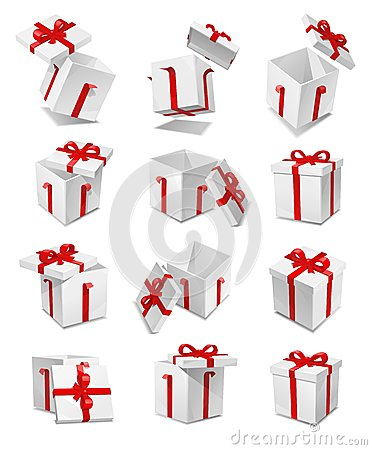 Free Vector Gift Box Set Royalty Free Stock Images - 27974749