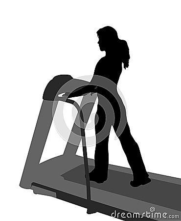 Vector girl fitness