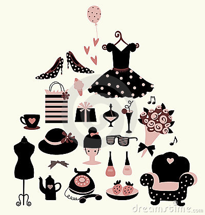Free Vector Girl Set Royalty Free Stock Images - 8161589