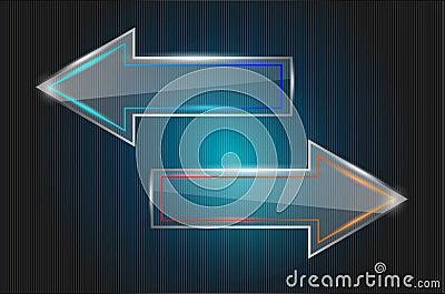 Vector glass arrows