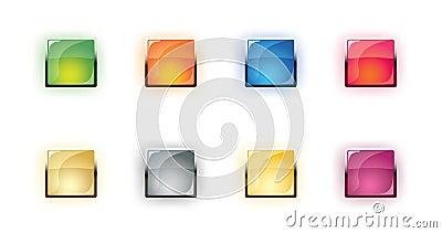 vector glass shone buttons