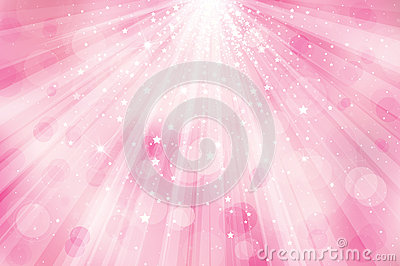 Vector glitter pink  background with rays of light