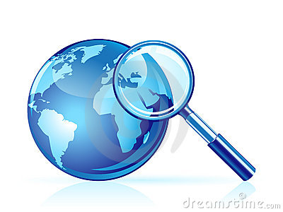 Vector global search icon