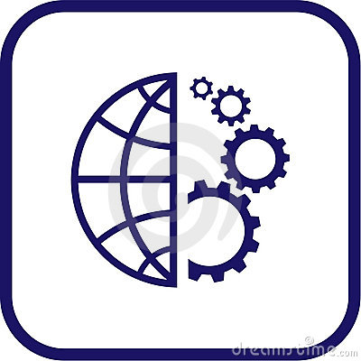 Free Vector Globe And Gear Icon Stock Photos - 5387313