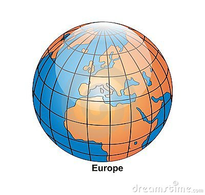 vector Globe Europe