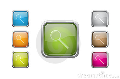 Vector glossy buttons with zoomicons