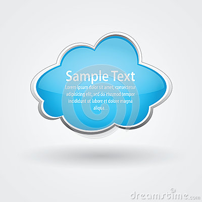 Vector glossy cloud for text