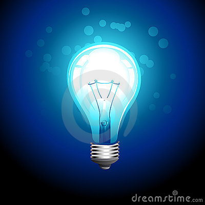 Vector glow bulb