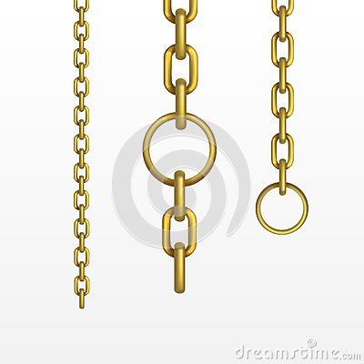 Free Vector Gold Chain Stock Photography - 36476412