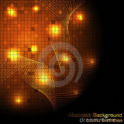 Vector gold hi-tech background