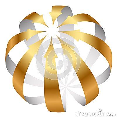 Gold arrows icon