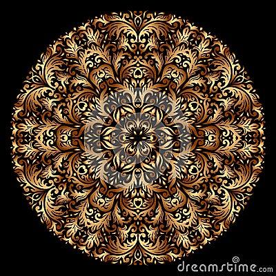 Vector gold ornament.