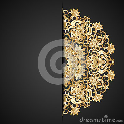 Vector gold ornament.