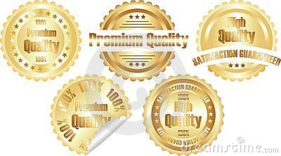 Vector gold  premium quality label